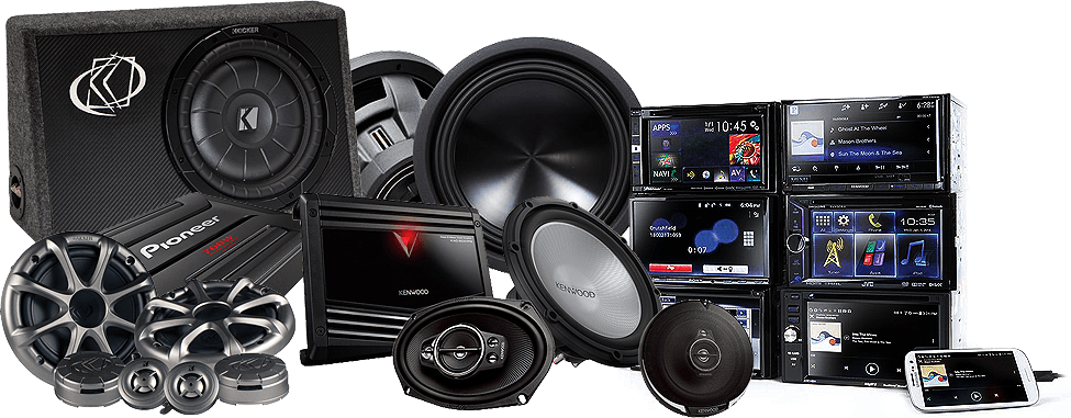 Audio Zone Speakers Subwoofers Bass Amplifiers Components DVD Navigation iPhone Android Integration